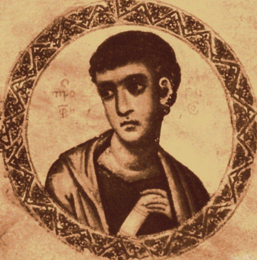 Святой Пророк Аггей. Византийская миниатюра.