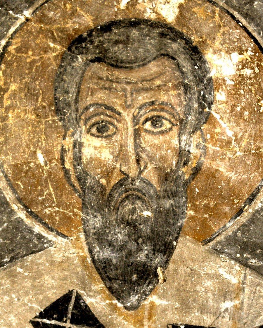 Святитель Василий Великий, Архиепископ Кесарии Каппадокийской. Фреска церкви Святых Врачей в Кастории, Греция.