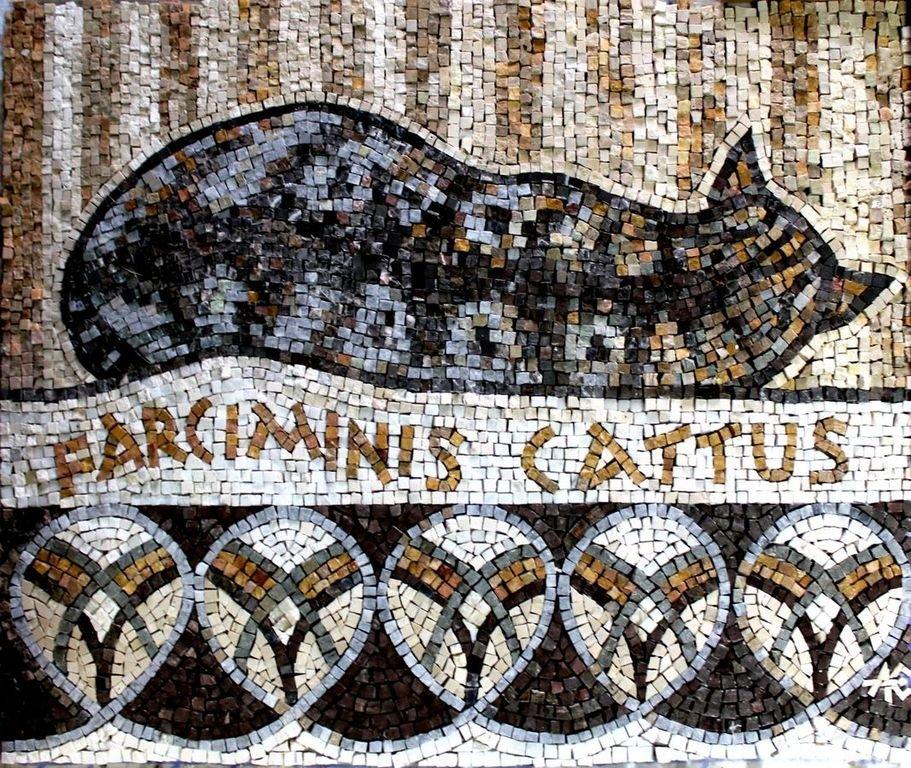 Древнеримская мозаика. FARCIMINIS CATTUS.