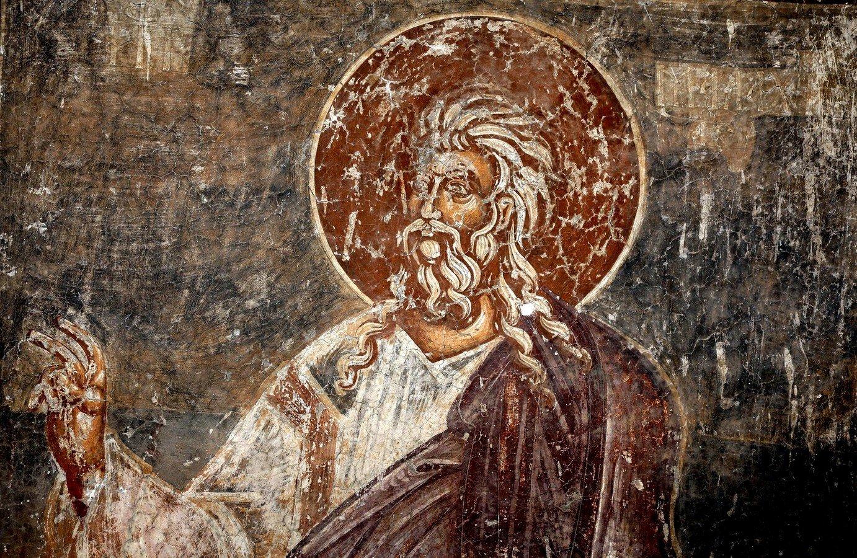 Святой Пророк Малахия. Фреска церкви Спаса в Призрене, Косово и Метохия, Сербия. XIV век.