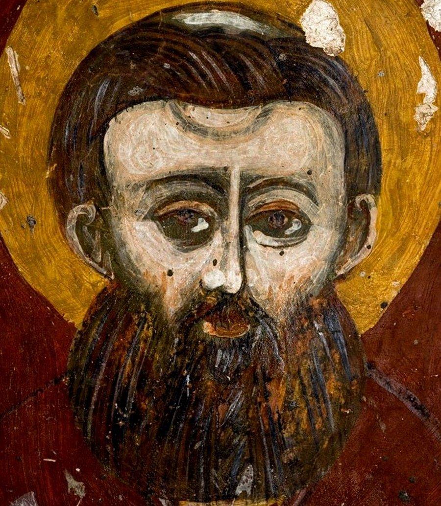 Святитель Савва, первый Архиепископ Сербский. Фрагмент иконы боко-которской школы.
