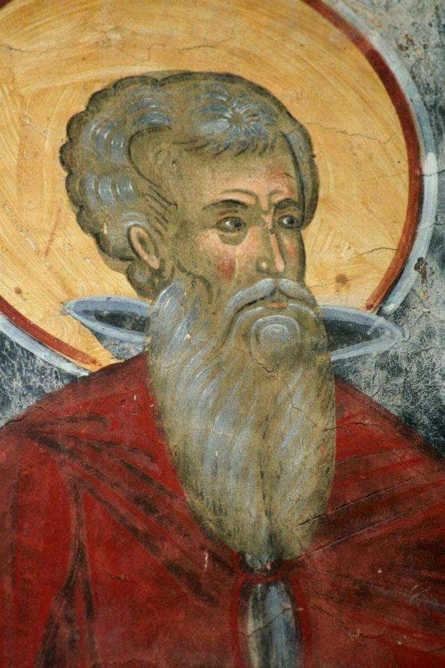 Лик Преподобного отца. Фреска. Румыния.