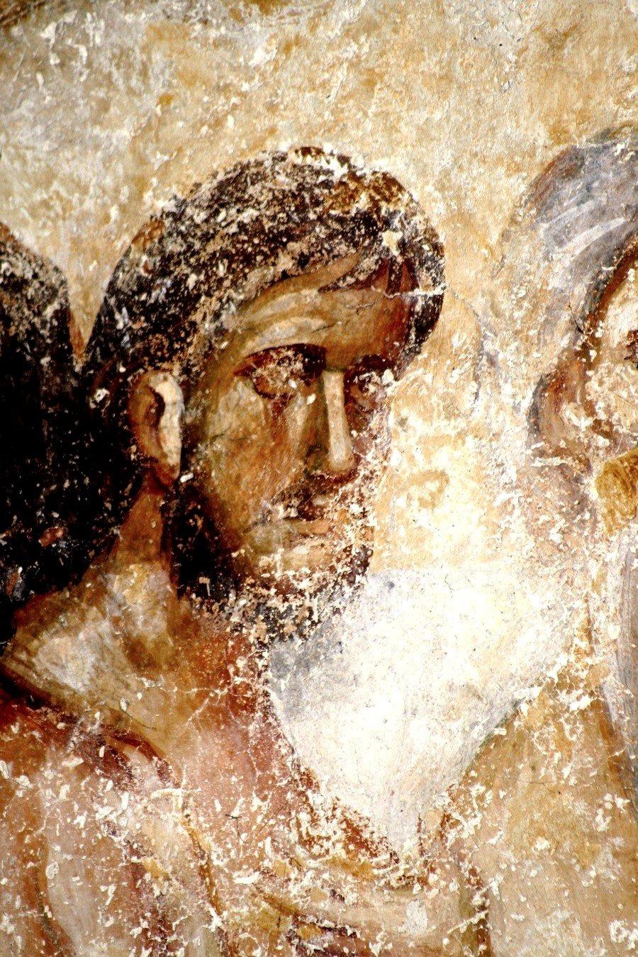 Святые Сорок Мучеников Севастийских. Фреска церкви Святой Троицы в монастыре Сопочаны, Сербия. 1265 год. Фрагмент.
