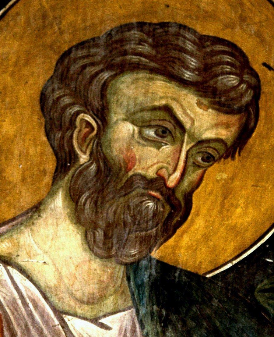 Святой Апостол и Евангелист Марк. Фреска Лесновского монастыря, Македония. XIV век.