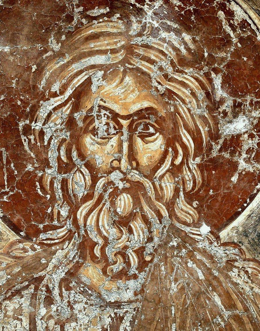 Святой Пророк Исаия. Фреска церкви Спаса в Призрене, Косово и Метохия, Сербия. XIV век.