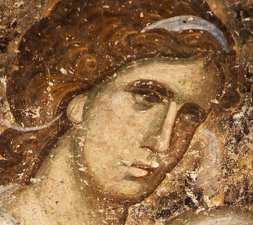 Ангел Господень. Фреска церкви Святой Троицы в монастыре Сопочаны, Сербия. 1265 год.