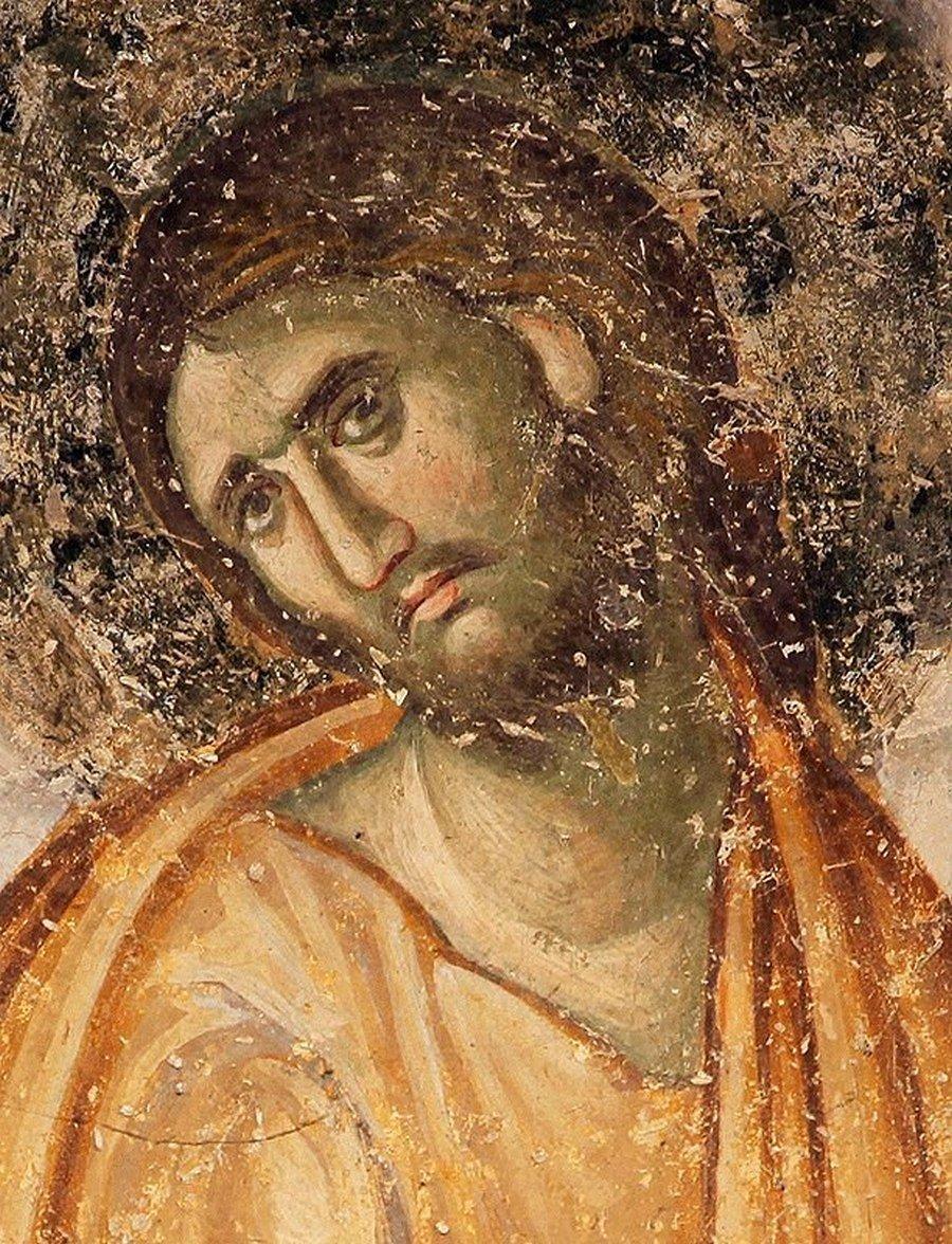 Лик Спасителя. Фреска церкви Святой Троицы в монастыре Сопочаны, Сербия. 1265 год.