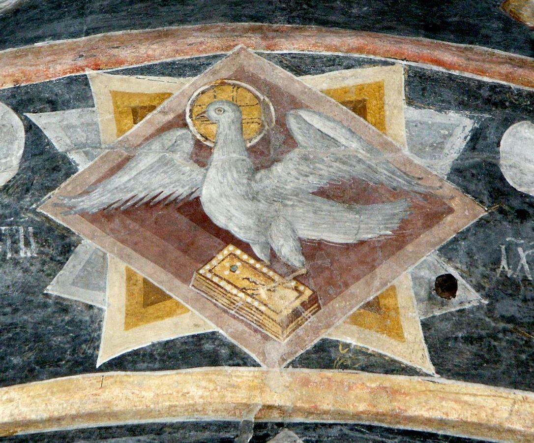 Святой Дух. Фреска монастыря Бистрица, Румыния. Около 1495 года.
