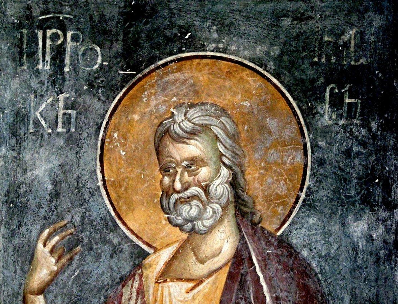 Святой Пророк Амос. Фреска монастыря Грачаница, Косово и Метохия, Сербия. Около 1320 года.