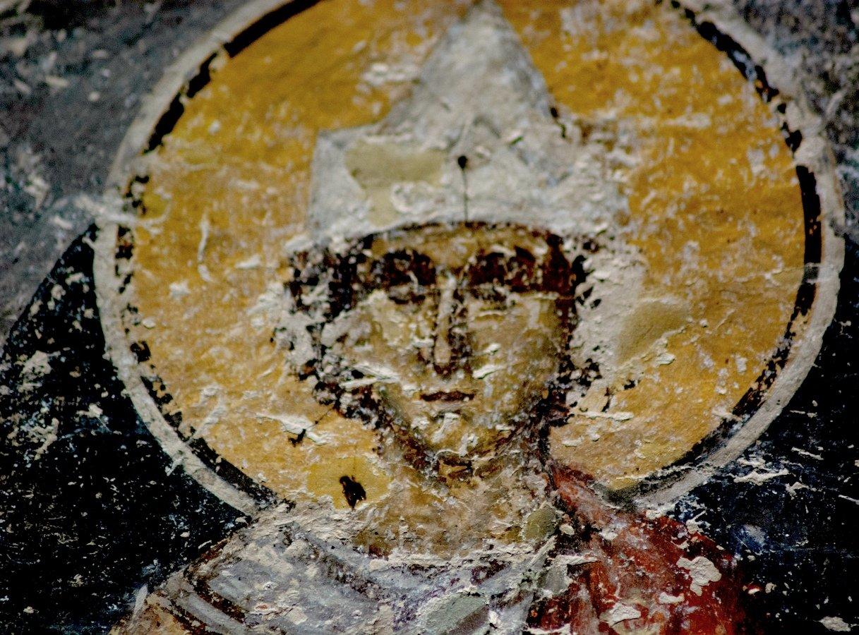 Святой Мученик Исмаил Персянин, Халкидонский. Фреска церкви Преображения Господня в монастыре Зрзе, Македония. 1368 - 1369 годы.