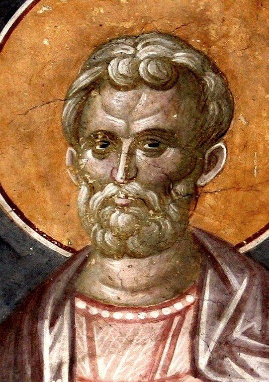 Святой Мученик Роман, диакон Кесарийский. Фреска монастыря Грачаница, Косово и Метохия, Сербия. Около 1320 года.