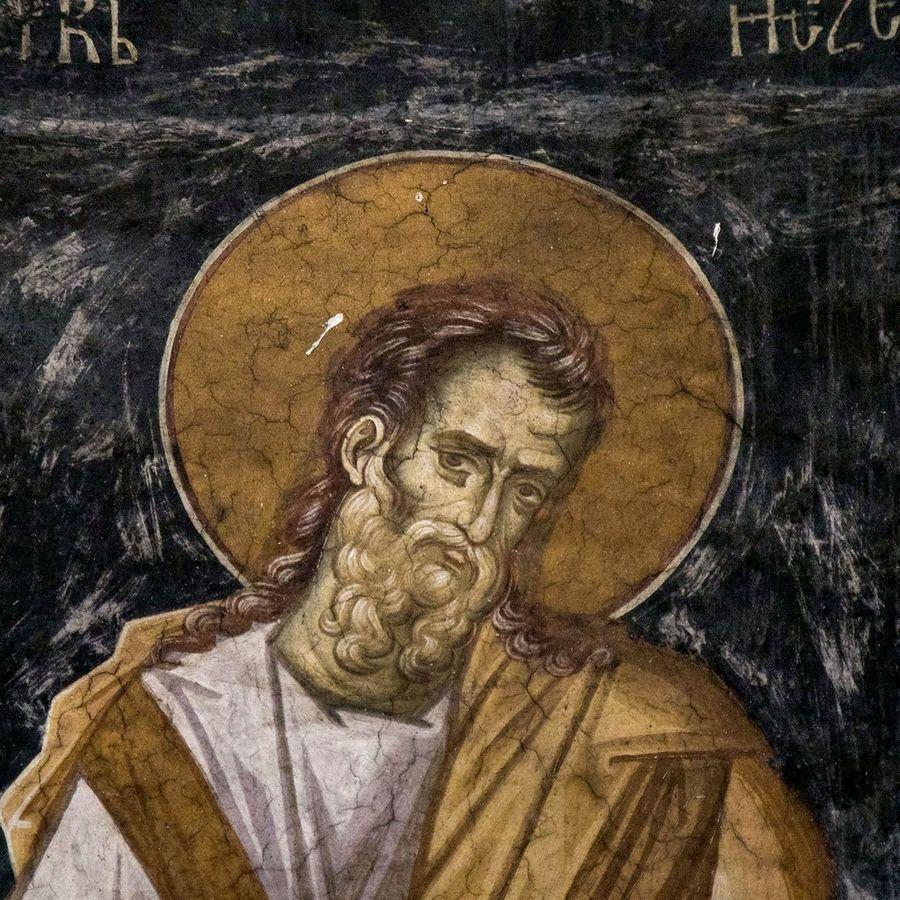 Святой Пророк Иезекииль. Фреска монастыря Высокие Дечаны, Косово и Метохия, Сербия. До 1350 года.