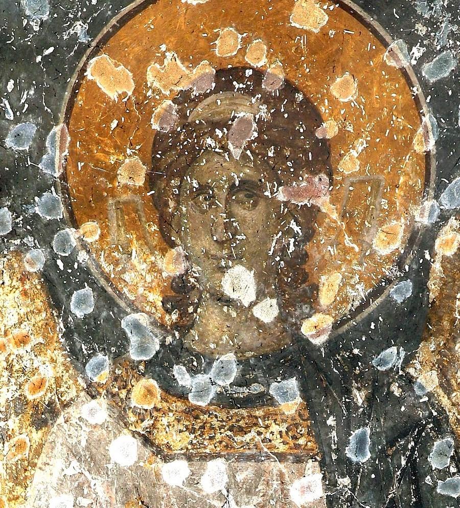 Ангел-диакон. Фреска церкви Богородицы Левишки в Призрене, Косово и Метохия, Сербия. Около 1310 - 1313 годов. Иконописцы Михаил Астрапа и Евтихий.