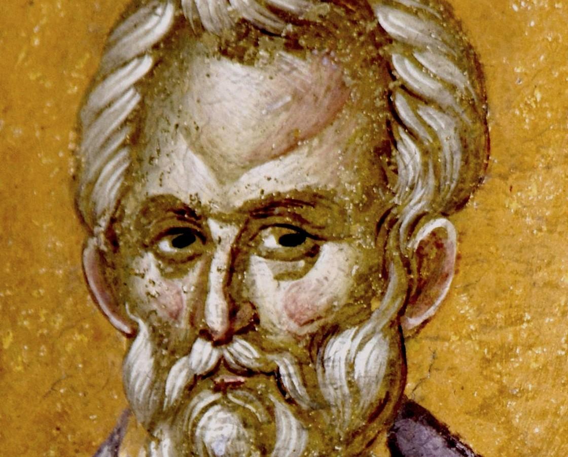 Священномученик Ермолай, иерей Никомидийский. Фреска монастыря Грачаница, Косово и Метохия, Сербия. Около 1320 года.