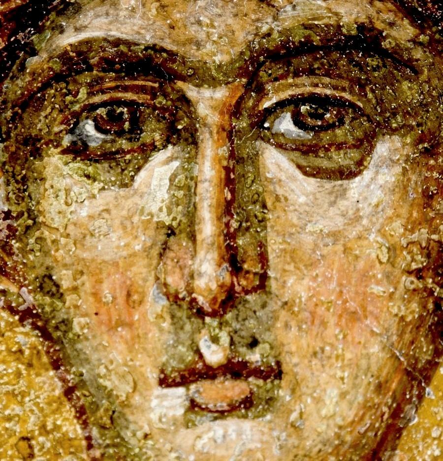 Святой Апостол от Семидесяти, Первомученик и Архидиакон Стефан. Фреска церкви Святых Константина и Елены в Охриде, Македония. 1477 год.