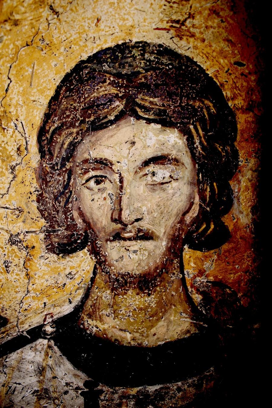 Святой Мученик Архидиакон Евпл. Фреска церкви Святых Николая и Пантелеимона (Боянской церкви) близ Софии, Болгария. 1259 год.