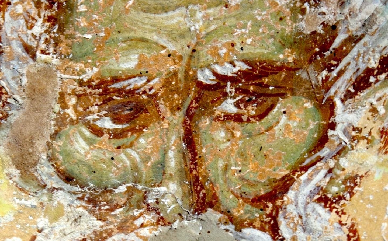 Святой Преподобный Пимен Великий. Фреска церкви Преображения Господня в монастыре Зрзе, Македония. 1368 - 1369 годы.
