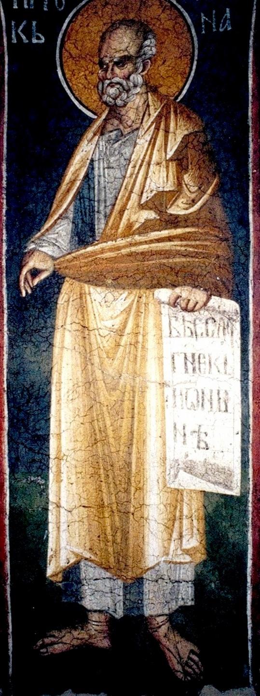 Святой Пророк Иона. Фреска монастыря Грачаница, Косово и Метохия, Сербия. Около 1320 года.