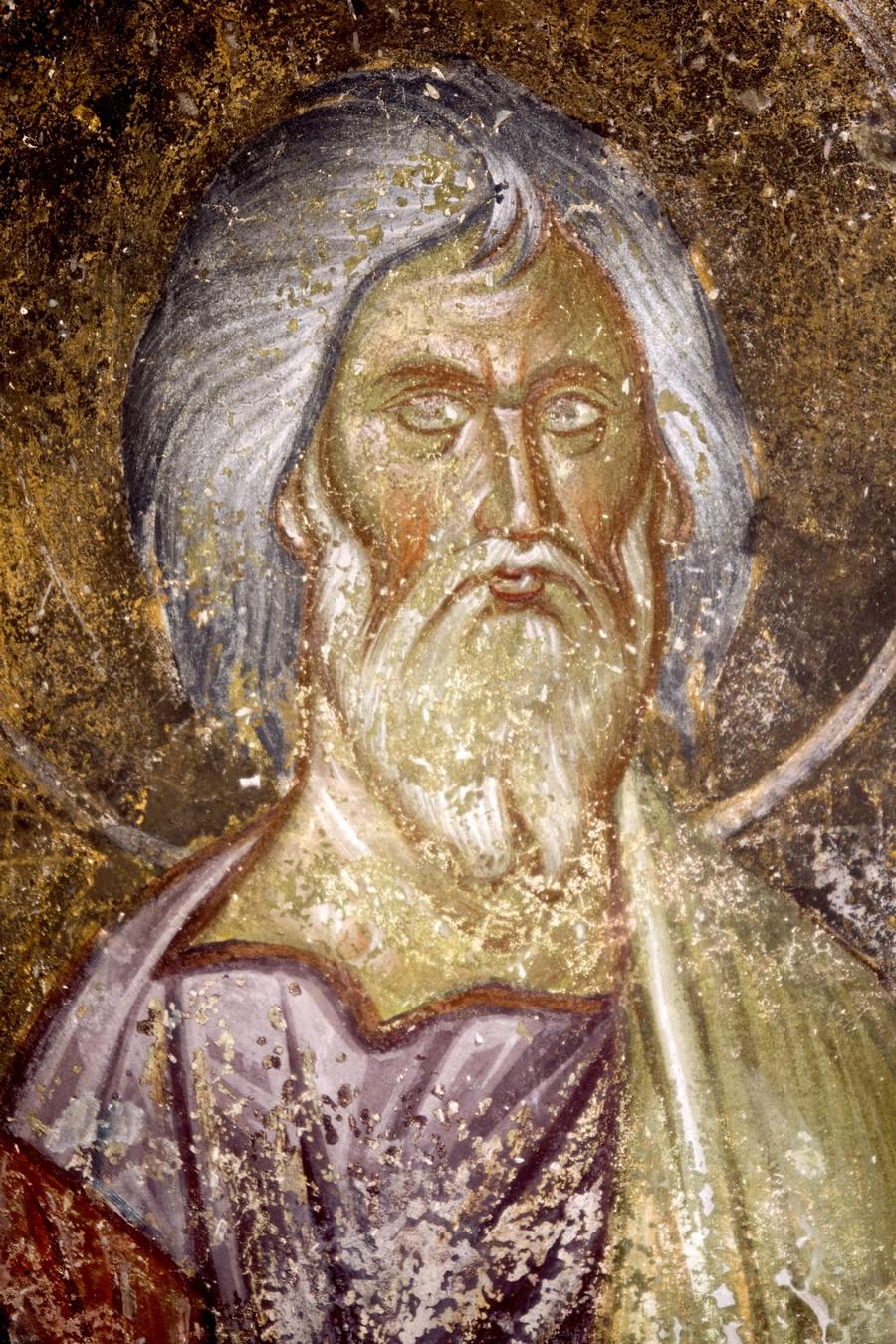 Святой Праведный Гедеон. Фреска церкви Благовещения Пресвятой Богородицы в монастыре Градац, Сербия. Около 1275 года. Фрагмент.