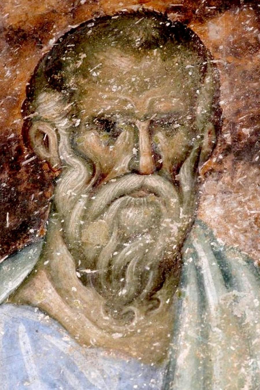 Святой Апостол и Евангелист Иоанн Богослов. Фреска церкви Святой Троицы в монастыре Сопочаны, Сербия. 1265 год.