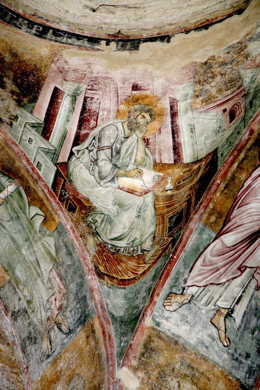Святой Апостол и Евангелист Марк. Фреска церкви Святой Троицы в монастыре Сопочаны, Сербия. 1265 год.
