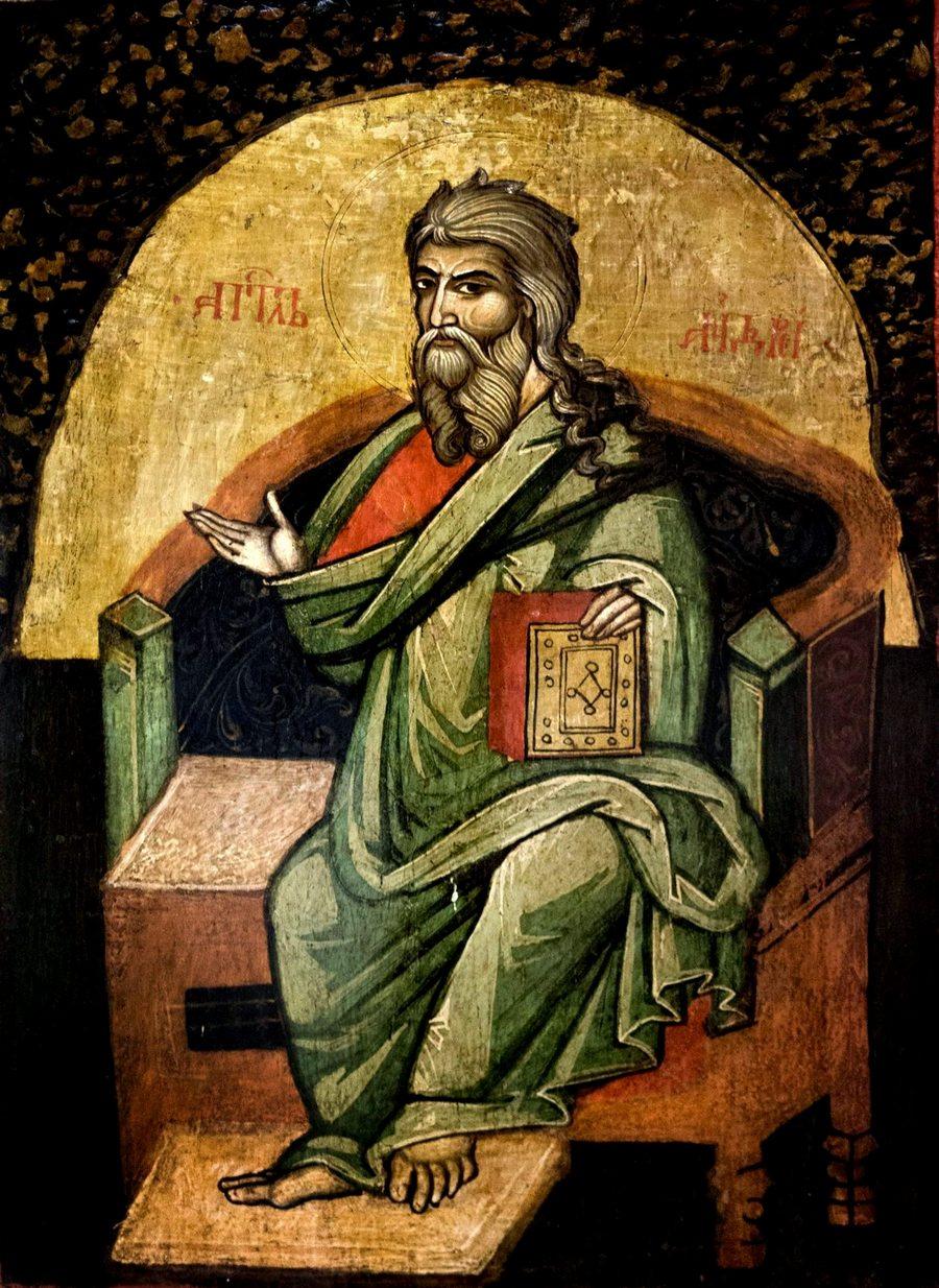 Святой Апостол Андрей Первозванный. Старинная румынская икона.