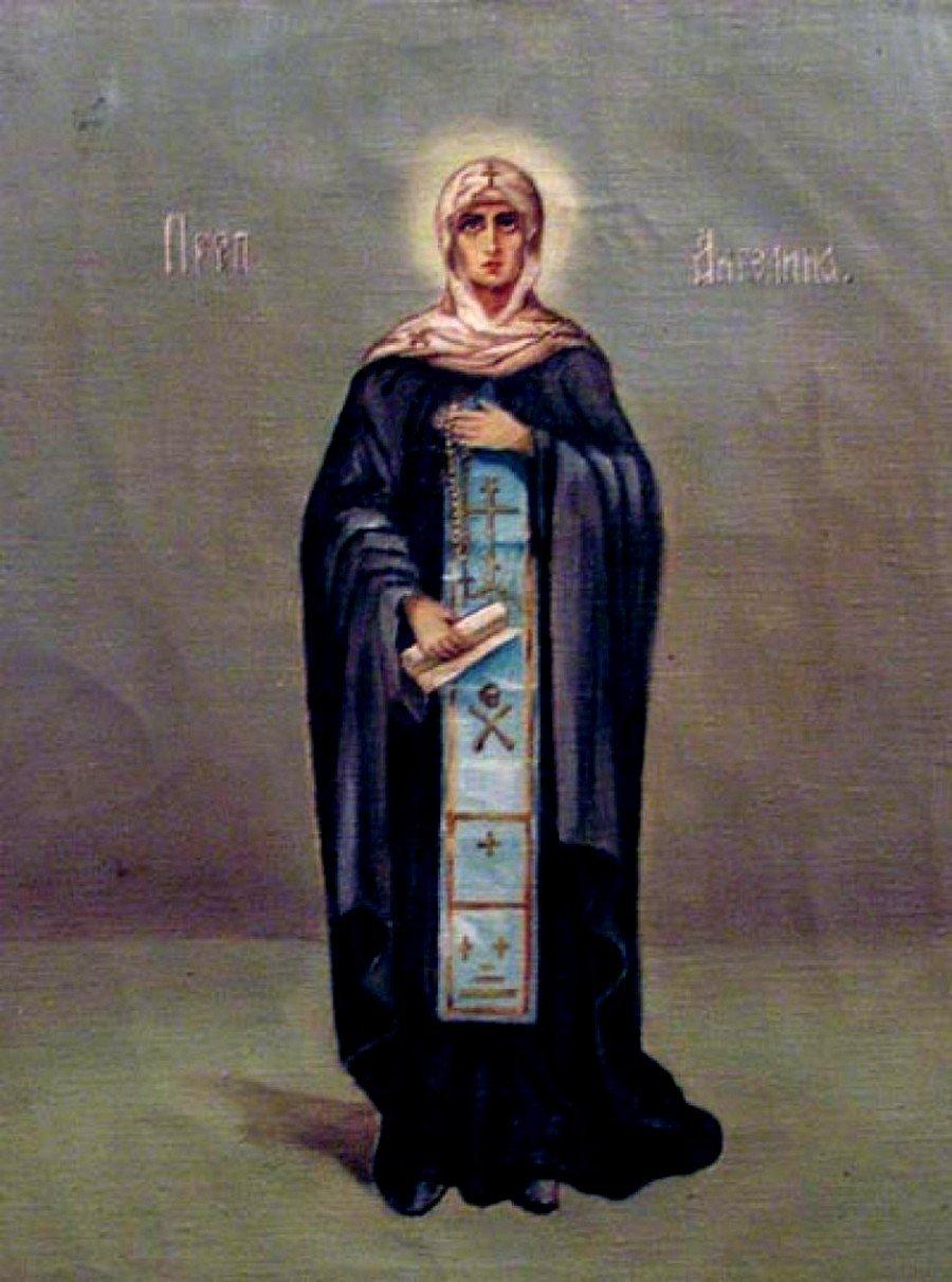 Святая Преподобная Ангелина, деспотица Сербская. Икона из монастыря Ваведенье в Белграде.