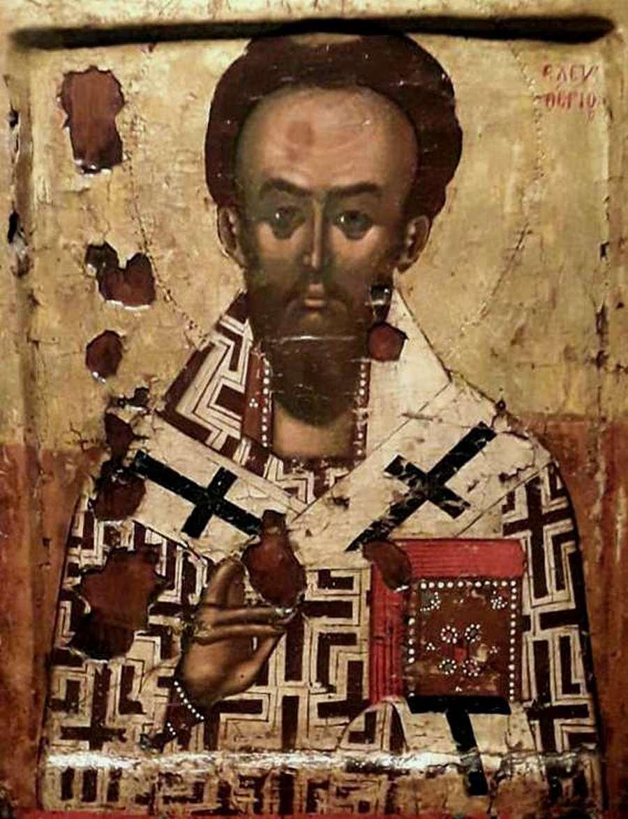 Священномученик Елевферий, Епископ Иллирийский. Балканская икона.