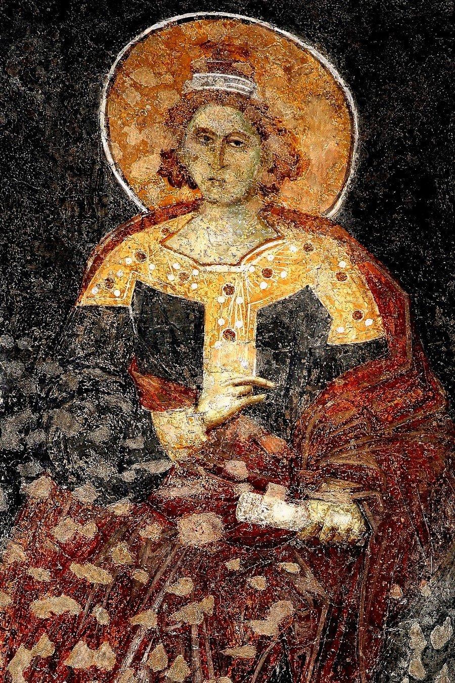 Святой Пророк Даниил. Фреска церкви Богородицы Левишки в Призрене, Косово и Метохия, Сербия. Около 1310 - 1313 годов. Иконописцы Михаил Астрапа и Евтихий.
