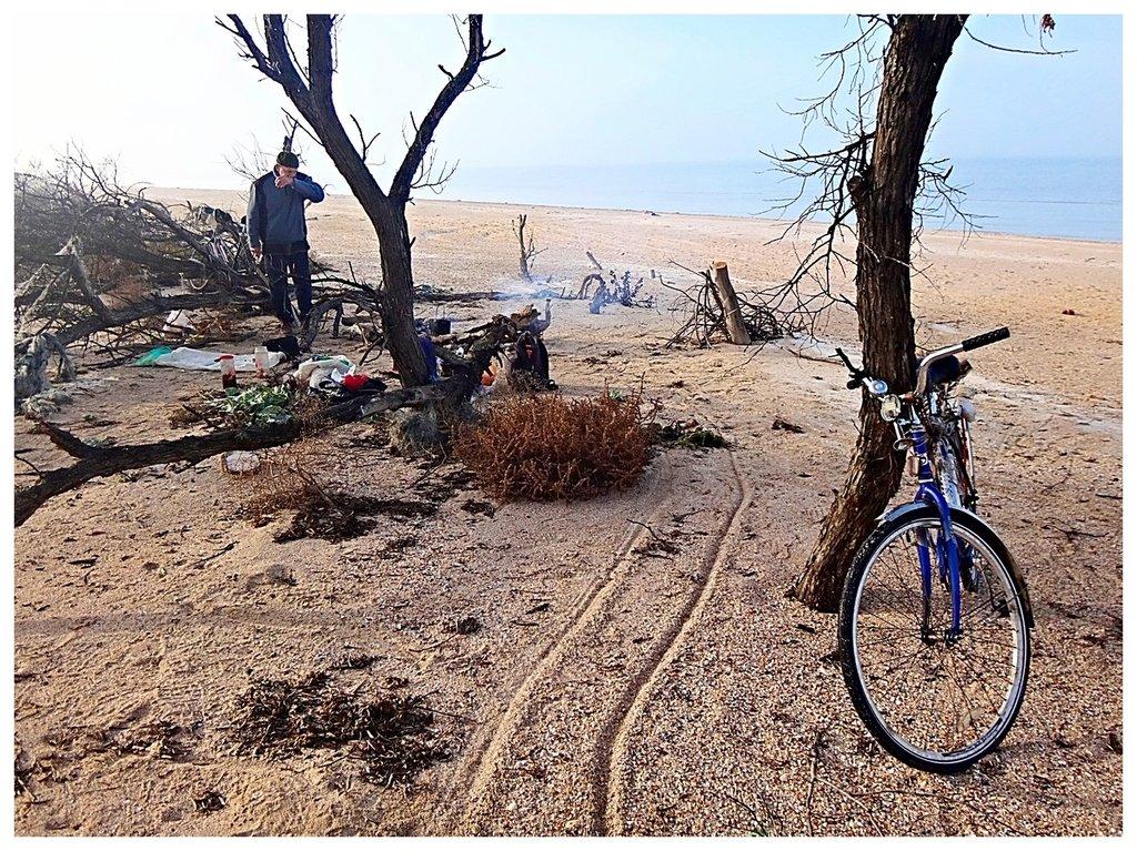 В походе,Кубань,природа,с велосипедом004