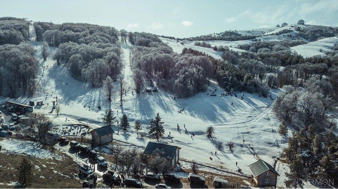 Горнолыжная трасса 26 км на Ай-Петри.