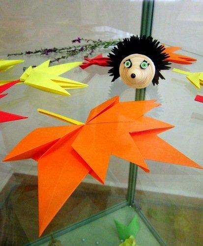 """Модульное оригами """"Ёжик""""."""