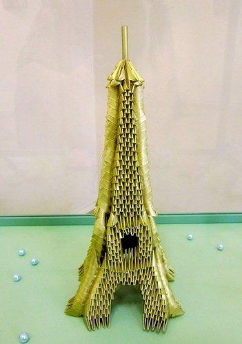 """Модульное оригами """"Эйфелева башня""""."""