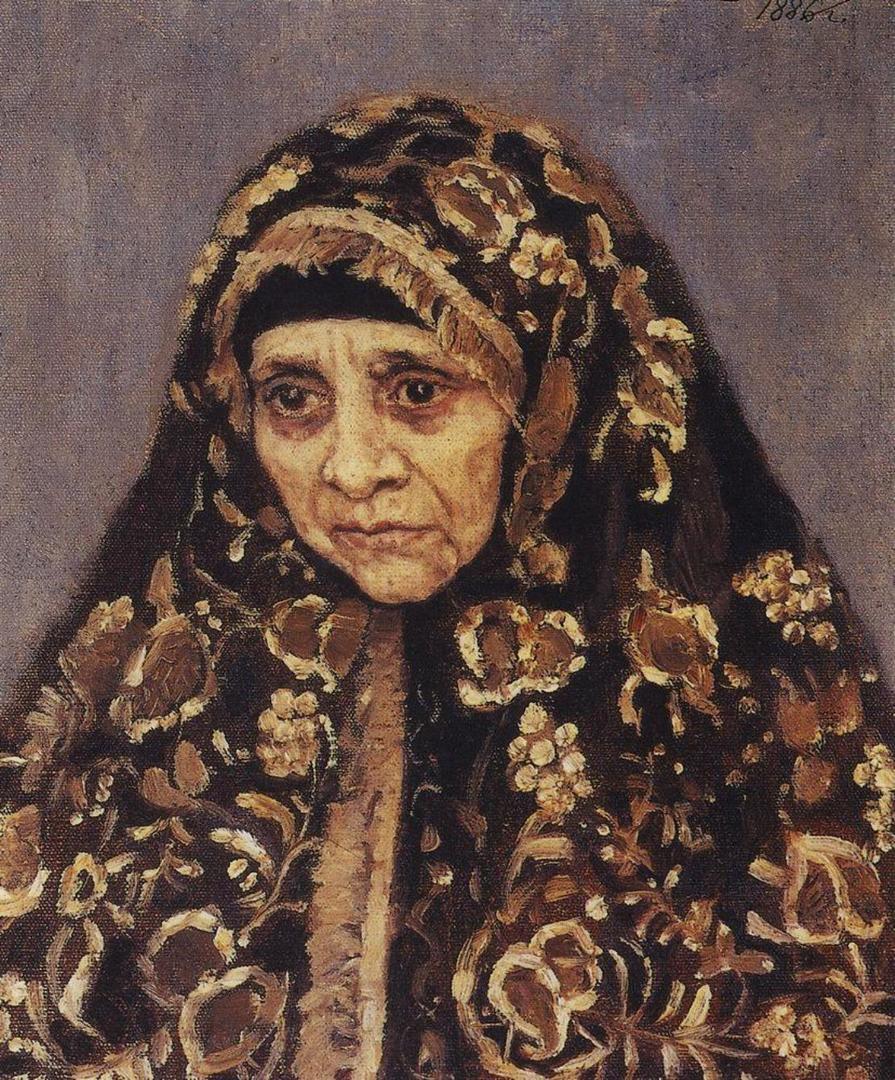 Василий Иванович Суриков. Старуха в узорчатом платке. 1886 год