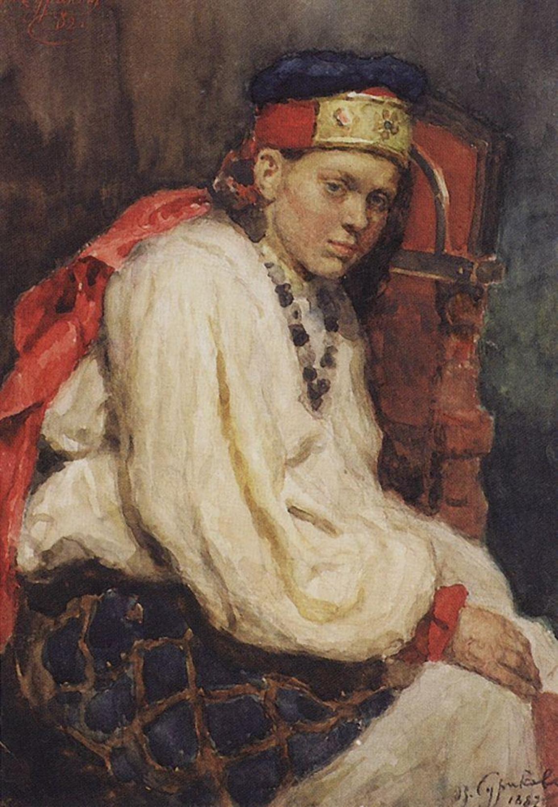 Василий Иванович Суриков – Натурщица в старинном русском костюме. 1882.