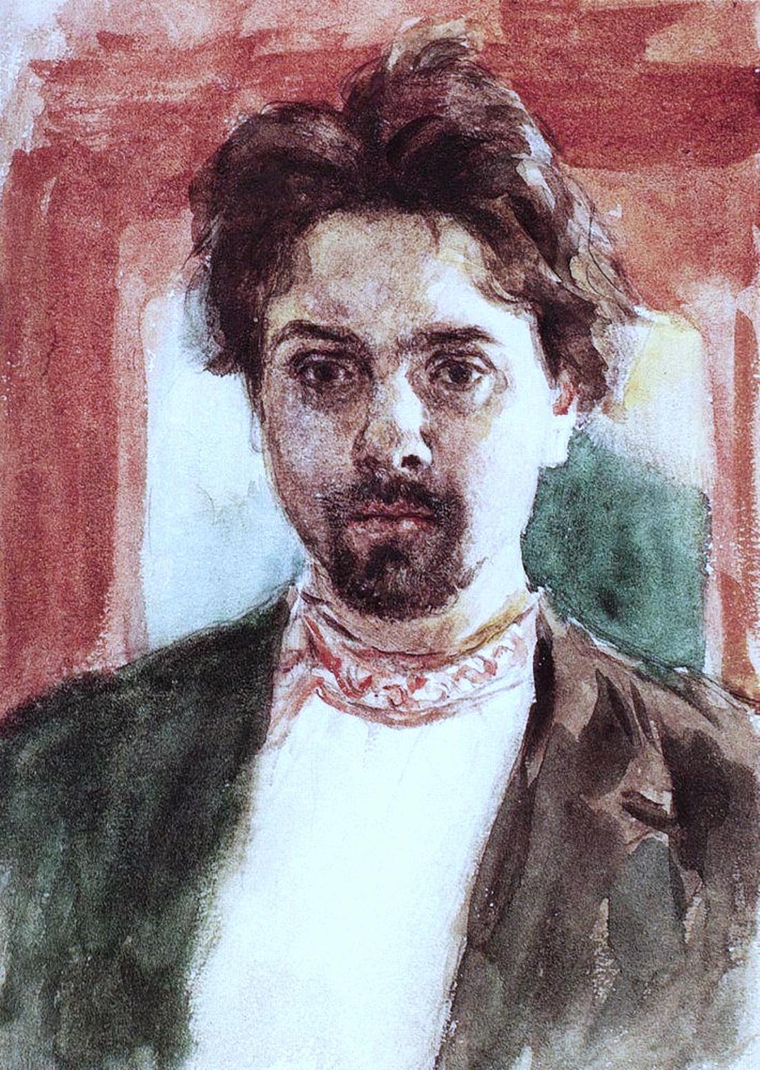 Василий Иванович Суриков – Автопортрет. 1883-1884.