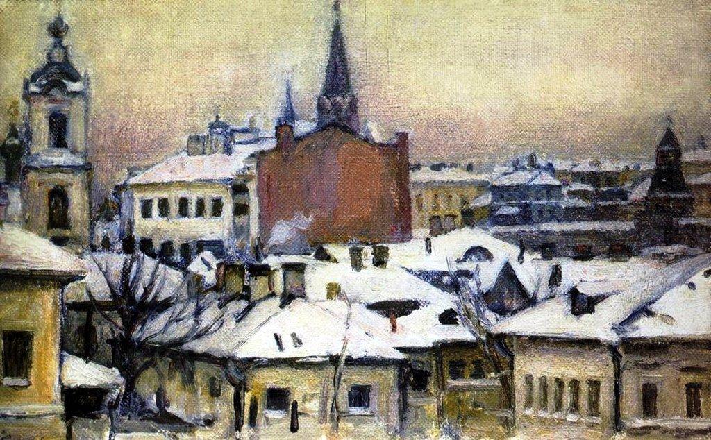 Василий Иванович Суриков  Вид на Кремль. 1913.