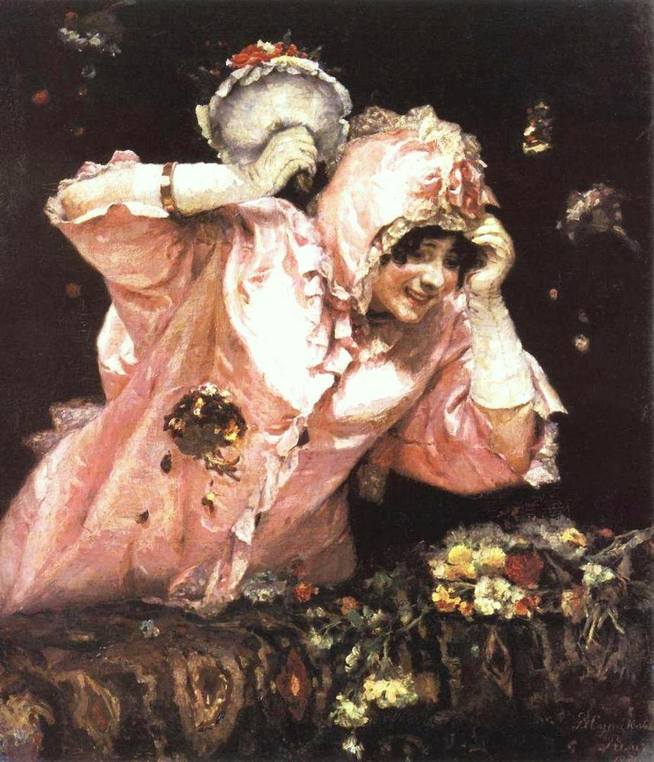 Василий Иванович Суриков  Сцена из римского карнавала. 1884