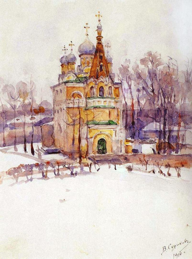 Василий Иванович Суриков  Церковь. 1910.