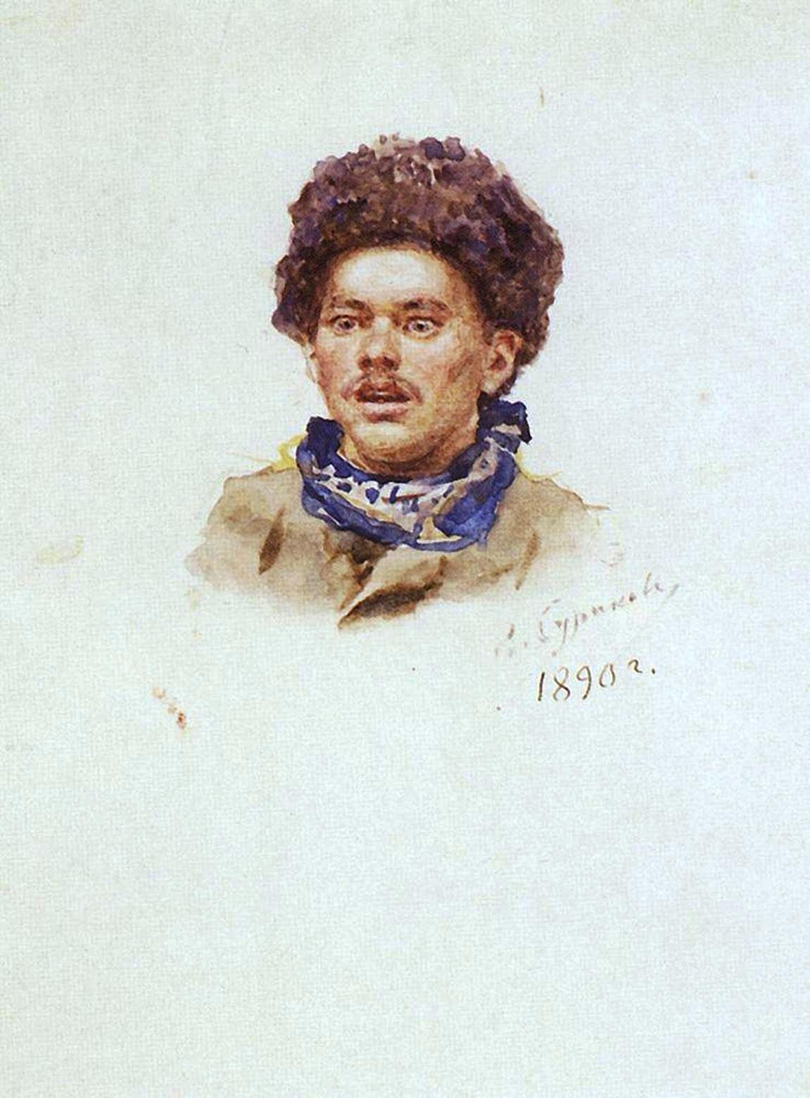 Василий Иванович Суриков  Александр Николаевич Пестунов. 1890