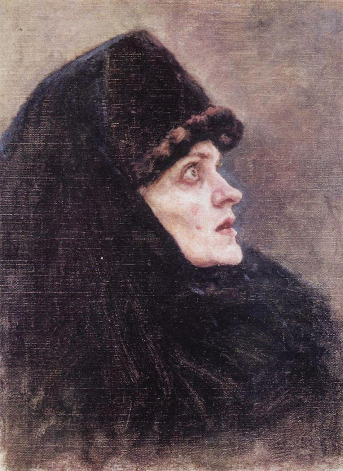 Василий Иванович Суриков  Голова боярыни Морозовой 2. 1886.