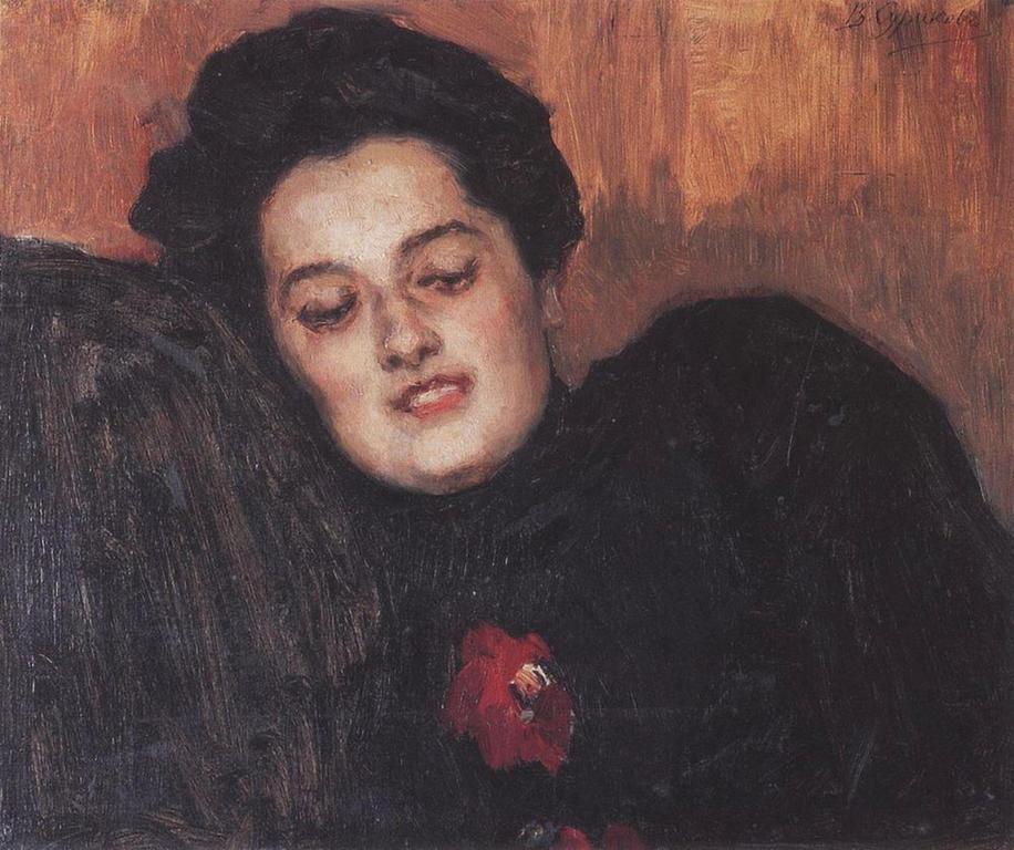Василий Иванович Суриков  Портрет А. И. Емельяновой. 1909.