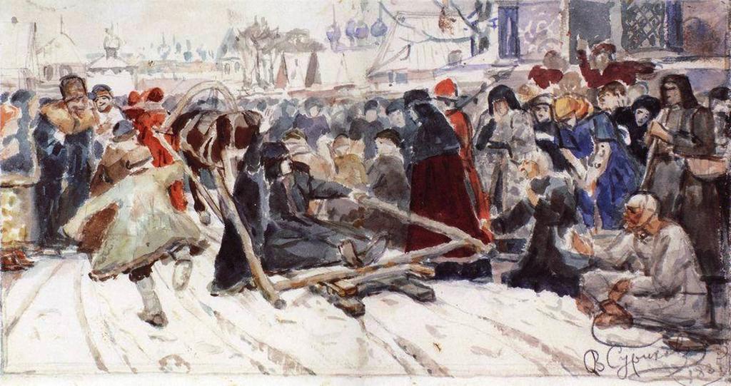 Василий Иванович Суриков  Боярыня Морозова. 1885.