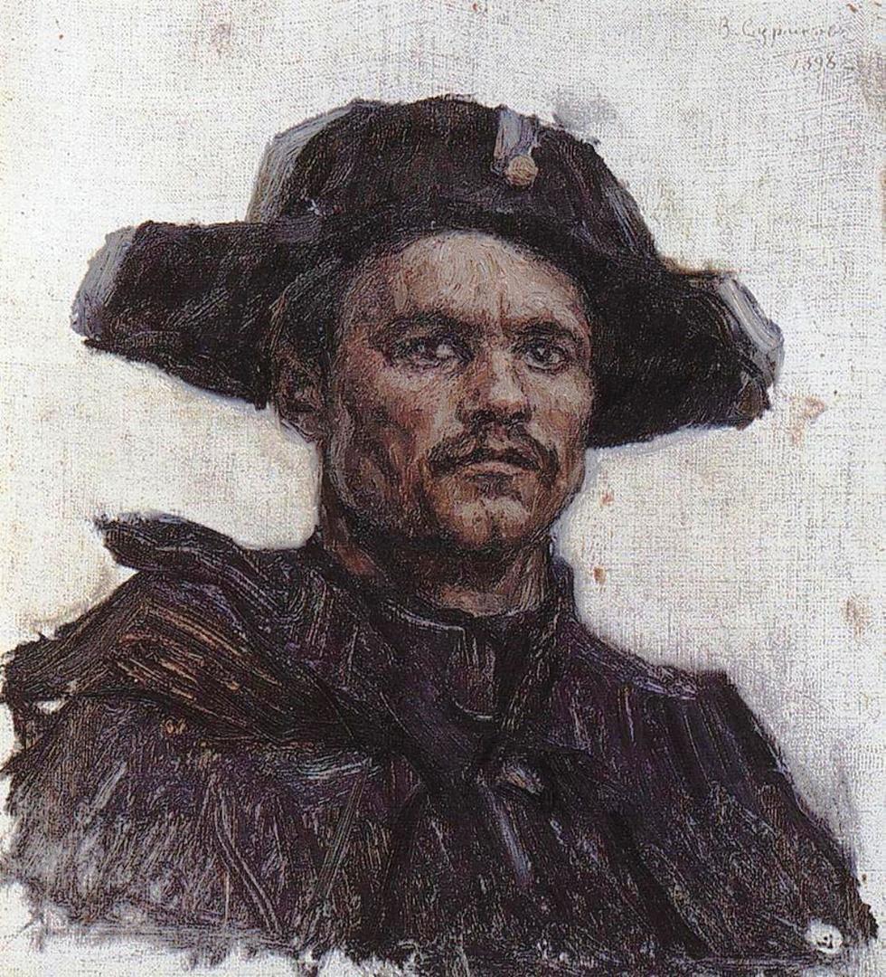 Василий Иванович Суриков  Голова солдата- барабанщика. 1898.