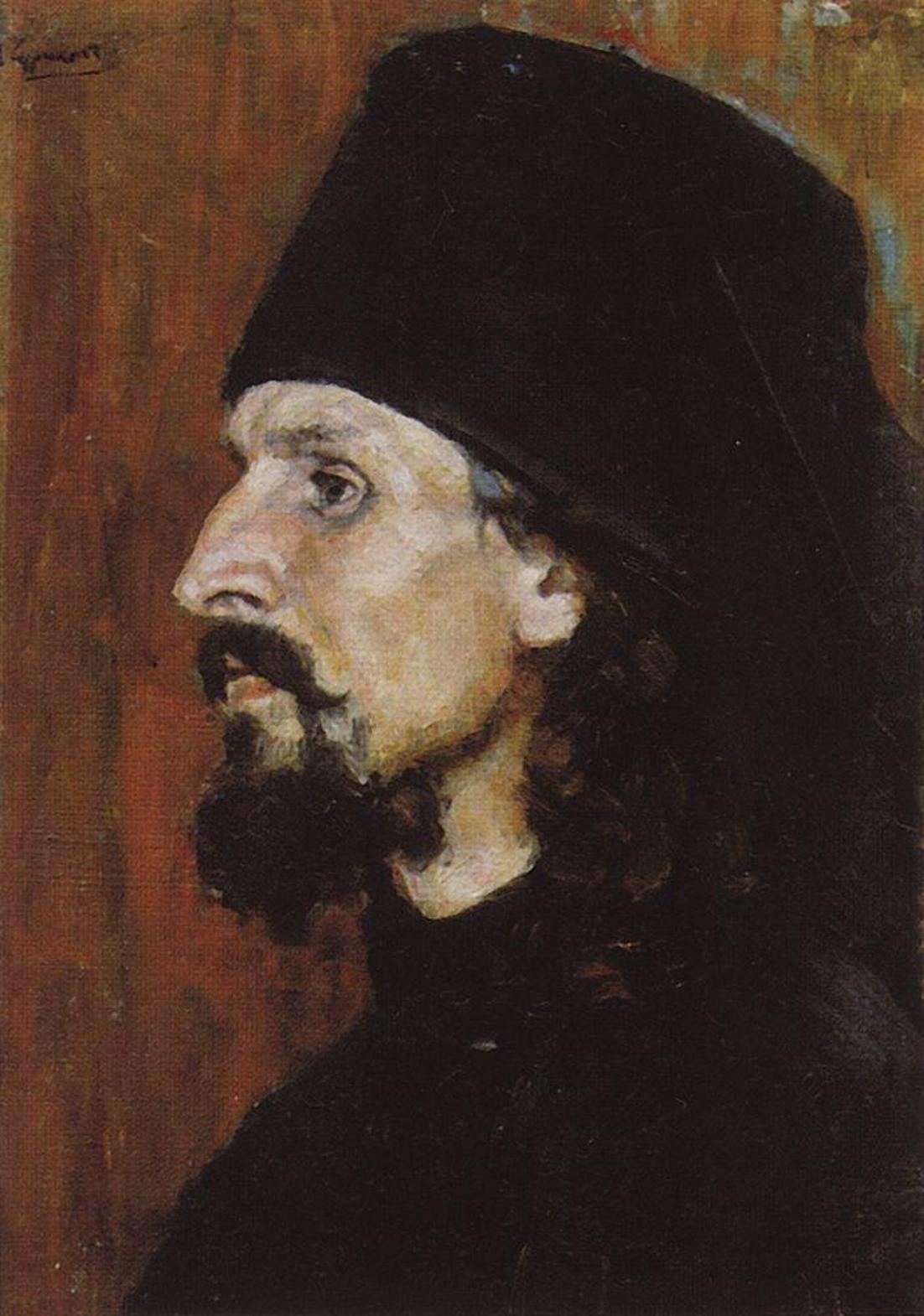 Василий Иванович Суриков  Монах. 1900-е.