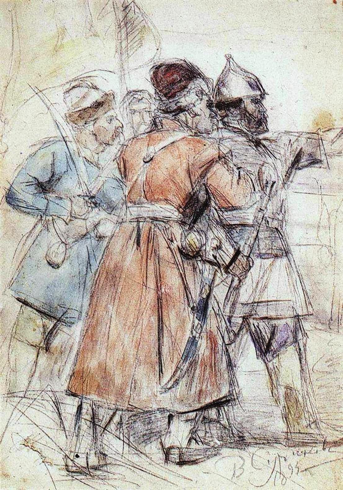 Василий Иванович Суриков  Ермак с казаками. 1894.