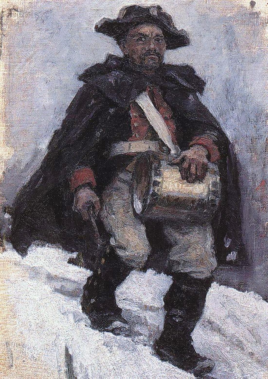 Василий Иванович Суриков  Солдат с барабаном. 1898 .