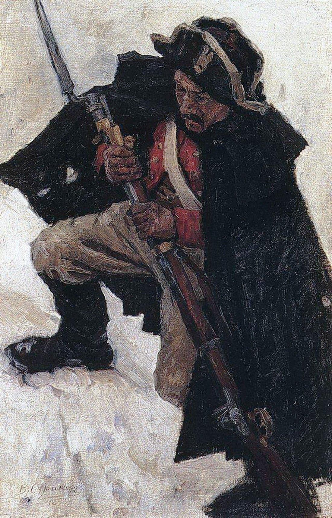 Василий Иванович Суриков  Солдат с ружьем 1. 1898.