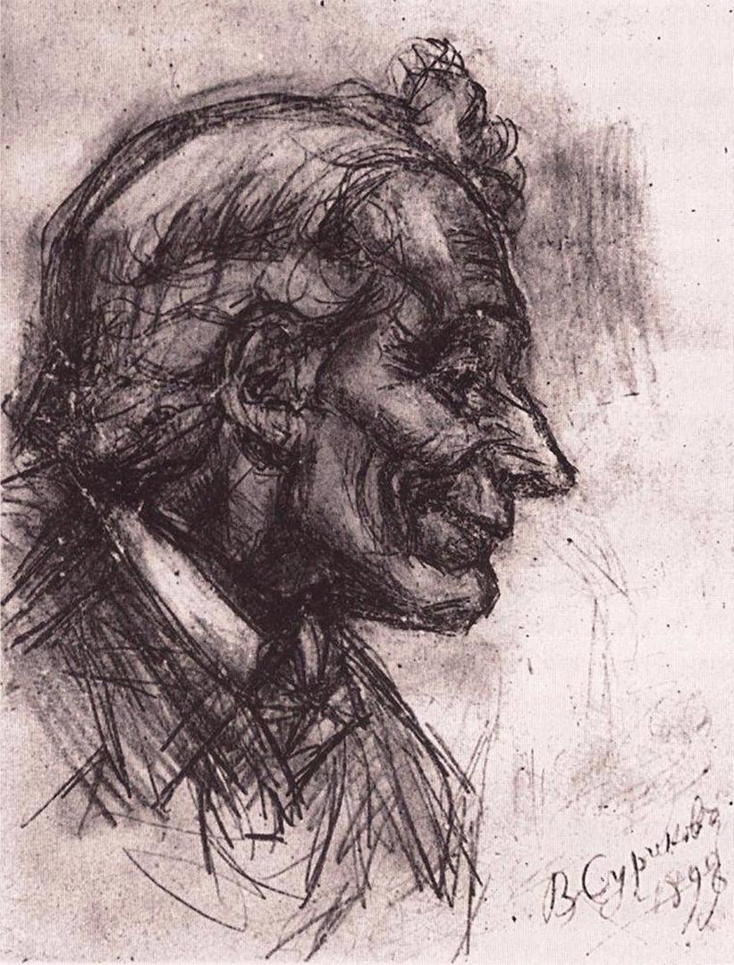 Василий Иванович Суриков  Голова Суворова. 1898.