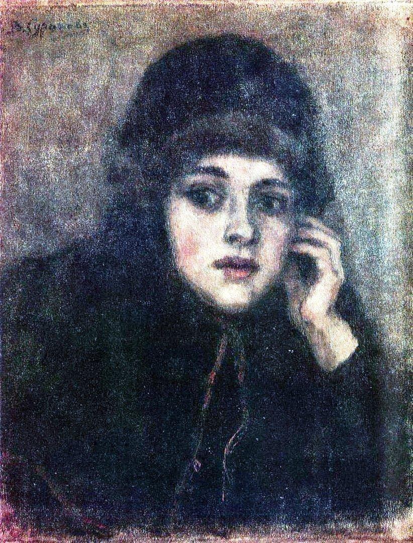 Василий Иванович Суриков  Голова монахини.